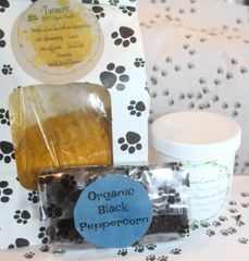 Turmeric Golden Paste Kit Turmeric, Black Peppercorn and Coconut Oil & recipe