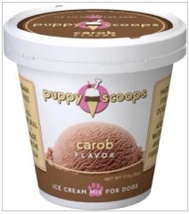 Puppy Scoops Ice Cream Mix: Carob