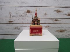 St Basil's Cathedral Music Box Square Base