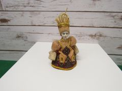 Golden Folk Doll Ornament