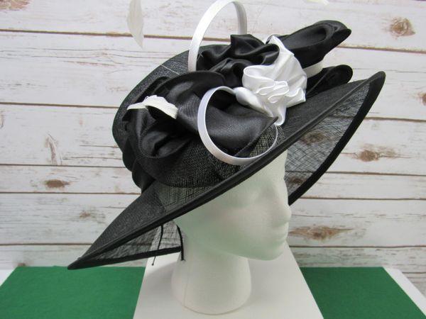 Black and White Dress Hat