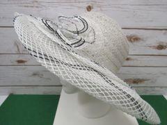 White & Black Straw Hat