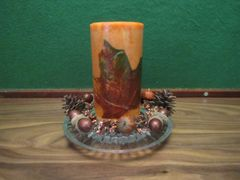Fall Candle with decorative base