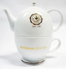 MACKWOODS FINE PORCELAIN TEA POT AND CUP