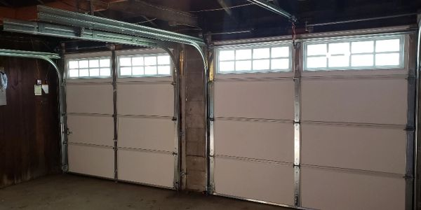 Interior 9 x 7 garage door - vinyl back insulated with glass