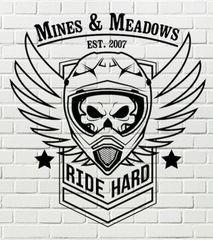 Ride Hard M&M Shirt RED, GRAY, PINK