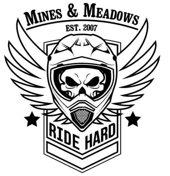 Ride Hard Skull Sticker