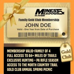 Family Gold Annual Membership HOLIDAY SALE