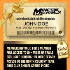 HOLIDAY SALE - Mines & Meadows Individual Gold Club Membership