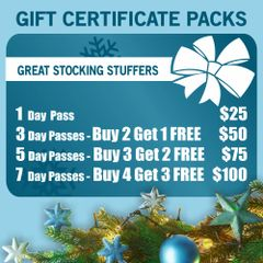 HOLIDAY SALE - Day Pass Gift Certificate Packages
