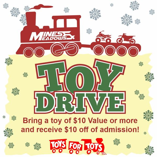 Mines & Meadows Toy Drive Day Pass