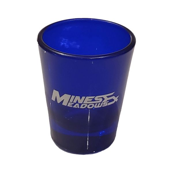 M&M Blue Shot Glass