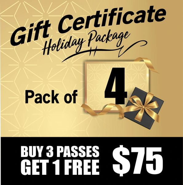 4 Day Pass Gift Certificates