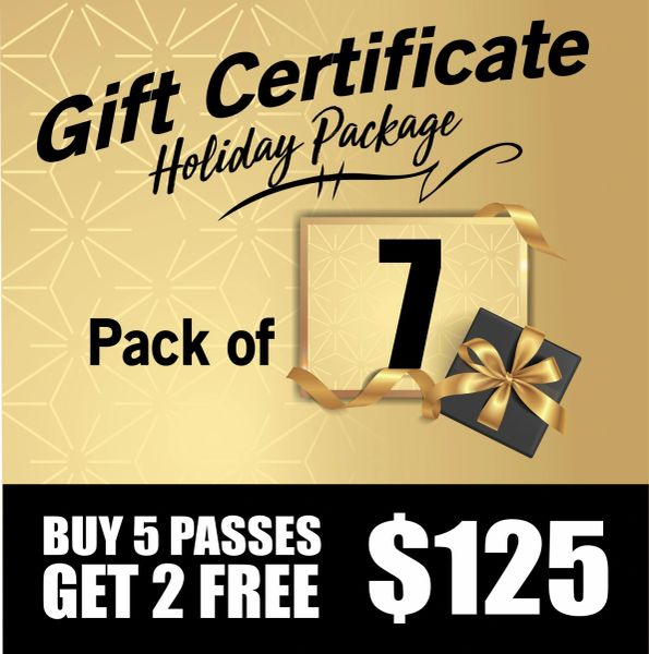 7 Day Pass Gift Certificates