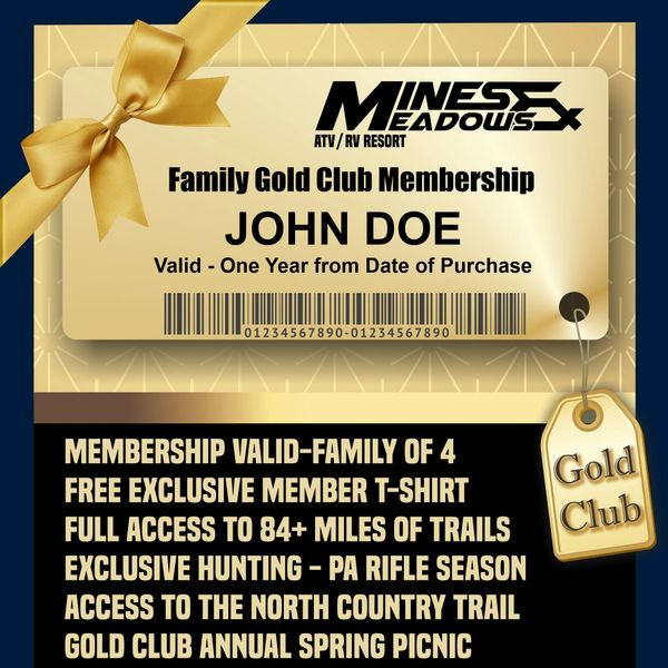 Family Gold Annual Membership - WINTER SALE