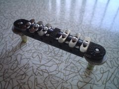 Black Embie-Matic Bridge Assembly with Inset Studs