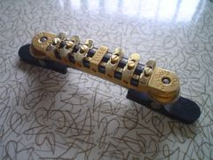 Gold Embie-Matic Bridge Assembly with Archtop Base