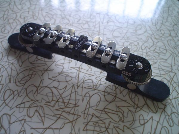 Black Embie-Matic Bridge Assembly with Archtop Base