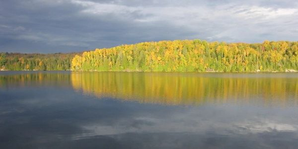 Private island property for sale in the Laurentians, Quebec, Nominingue on Lac des Grandes Baies.