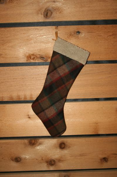 Wool Christmas Stocking Little Delta Plaid