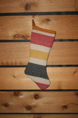 Wool Christmas Stocking Trapper Stipe