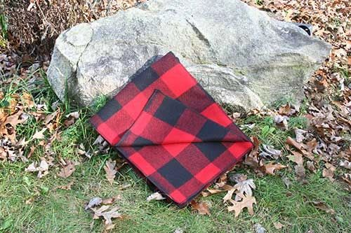 Red & Black Camp Blanket 60 x 72