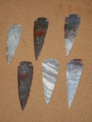 Hand Chipped Arrowheads 3""