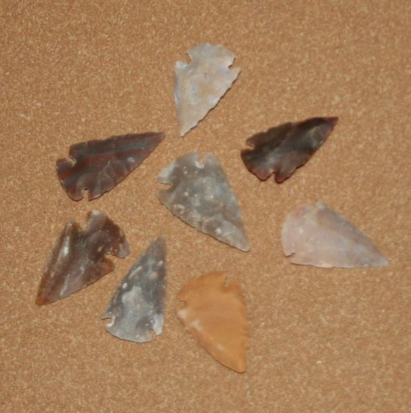 "Hand Chipped Arrowheads 1"" - 2"""