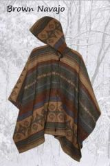 Wool Poncho Brown Navajo