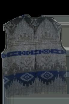 Vest Gray/Blue Navajo