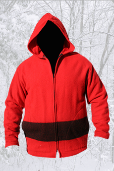 Blanket Coat Red/Black Stripe