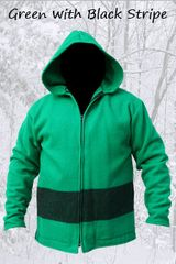 Blanket Jacket Green/Black Stripe