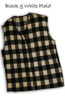 Vest Black and White Plaid