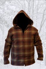 Jacket Shadow Plaid Brown