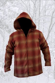 Jacket Shadow Plaid Rust