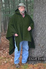 Poncho Olive Drab Tall (Blanket Weight)