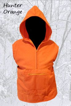 Wool Hunter Orange Pathfinder Vest