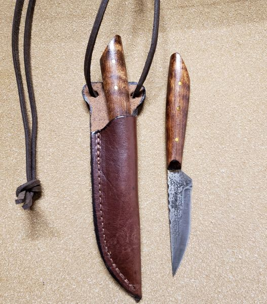 Small Knife w/ Leather Neck Sheath