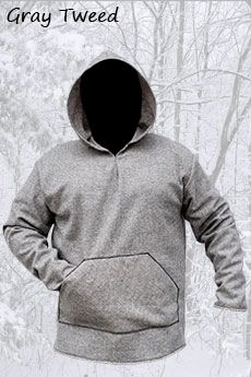 Basic Wool Hoodie Gray Tweed