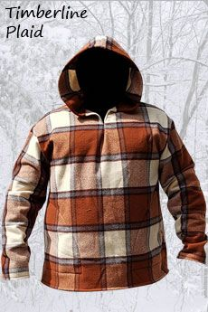 Hoodie with Side Pockets Timberline Plaid