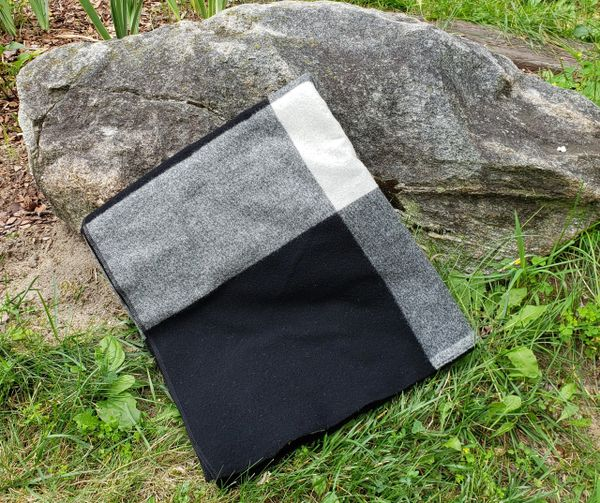 Black and White Camp Blanket 72x60