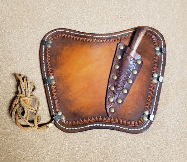 Leather Arm Guard with Knife