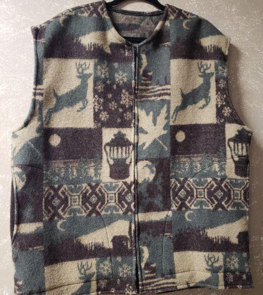 Wool Vest Rustic Camp (Blanket Weight Heaviest Wool)