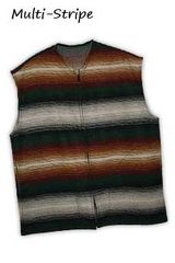 Wool Vest Multi Stripe