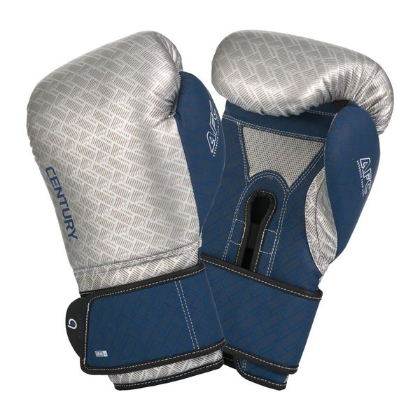 Brave Men's Boxing Gloves Silver/Navy