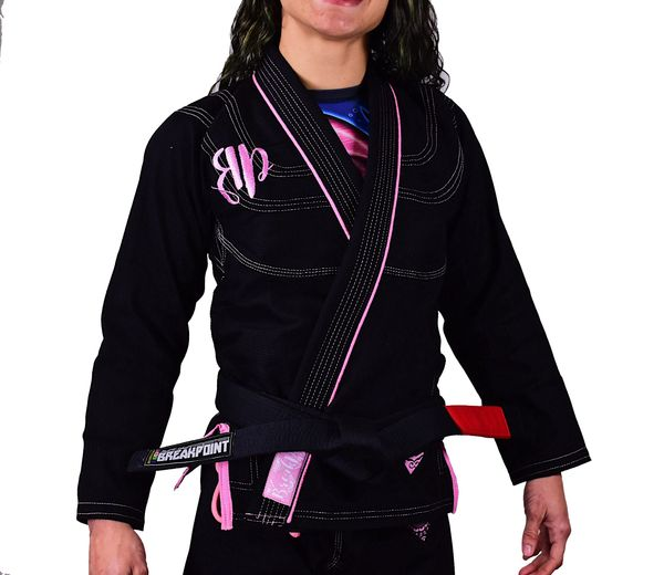 Break Point Diamond Girls & Women Jiu Jitsu Gi-Black
