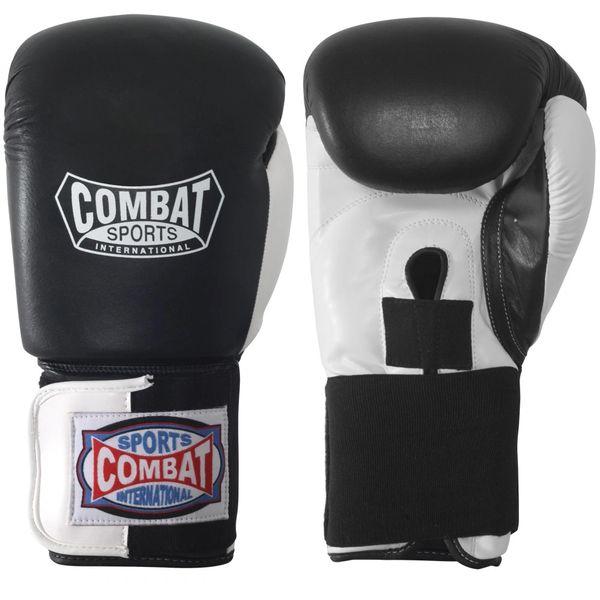 Combat Sports Black & White Sparring Gloves