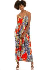 Multi Chain Print Maxi Dress