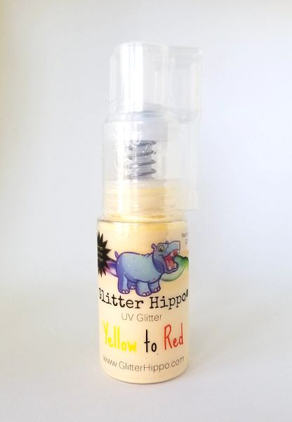 UV Glitter Pump!™ - Yellow to Red