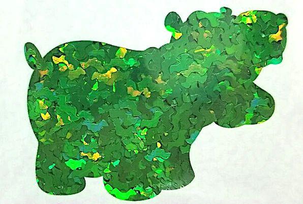 Holographic Shape Glitter! - Green Bats